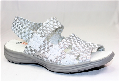 🌞 Bernie Mev Liv Sandal White Silver Sizes 37-41