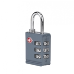 Travelon TSA Accepted Luggage Lock Slate Gray