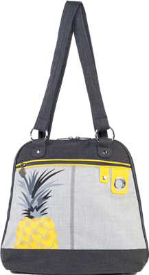 Jak's Labelle Yellow Pineapple Convertible Bag