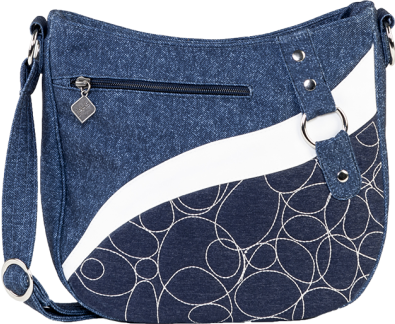 Jak's Matane Quilted Crossbody Bag Navy