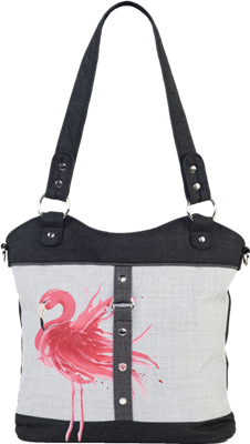 Jak's Bedford Tote Bag Flamingo Red