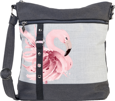 Jak's Beauharnois Cross Body Bag Flamingo Pink