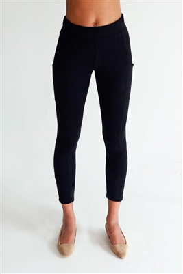 Bamboo Black Side Pocket Leggings