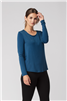 Bamboo Tshirt Scoop Neck Long Sleeve