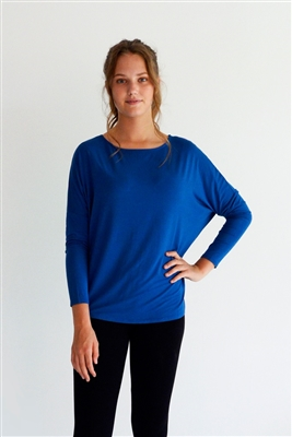 Bamboo Relaxed Top Denim Blue