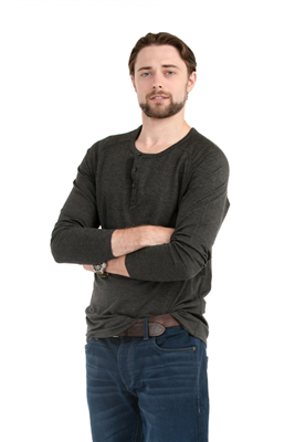 Bamboo Tshirt Men's Henley Long Sleeve