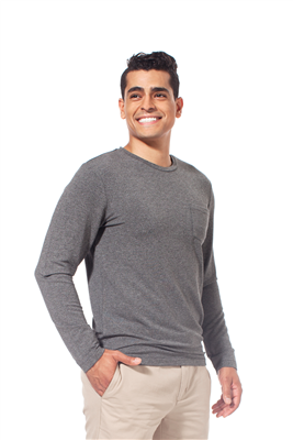 Bamboo Tshirt Men's Crew Neck Long Sleeve