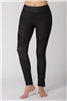 Denim Leggings Pin Tuck Detail Black