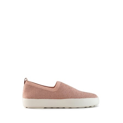 Cougar Hint Metallic Stretch Knit Water Repellent Slip On Shoe Rose Gold