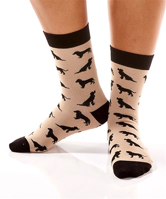 YoSox Socks Women's Crew Black Lab