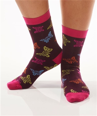 YoSox Socks Women's Crew Butterflies