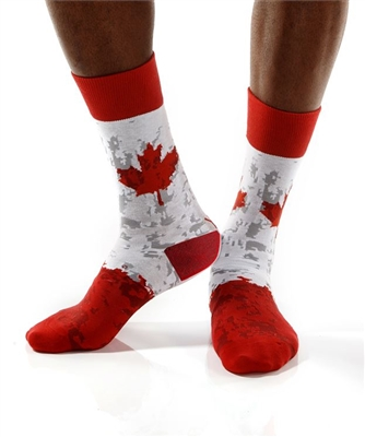 YoSox Socks Men's Crew Canada Proud Maple Leaf