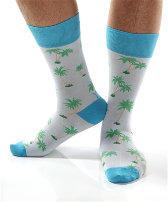 YoSox Socks Men's Crew Palm Trees