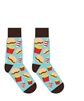 YoSox Socks Men's Crew Burger and Fries