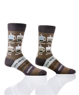 YoSox Socks Men's Crew Know Your Coffees