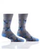 YoSox Socks Men's Crew Skateboard Shark
