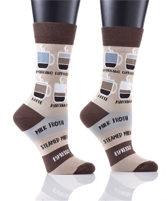 YoSox Socks Women's Crew Know Your Coffees