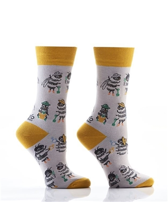 YoSox Socks Women's Crew Bee Keepers