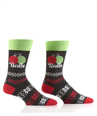 YoSox Socks Men's Crew Holiday Balls
