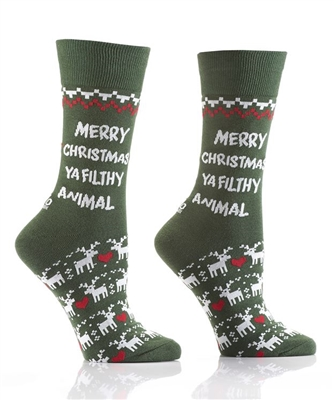 YoSox Socks Men's Crew Filthy Animal