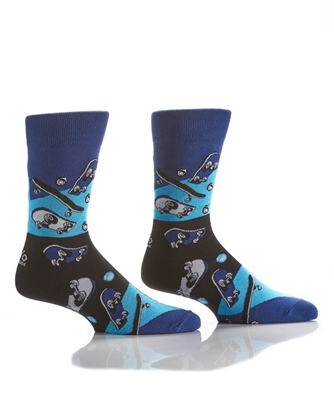 YoSox Socks Men's Crew Skateboard