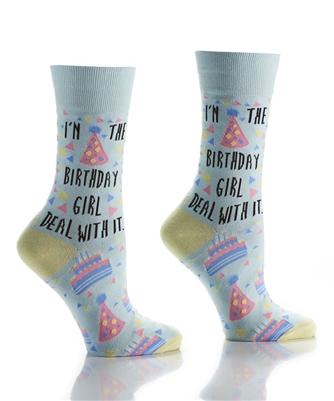 YoSox Socks Women's Crew Birthday Girl