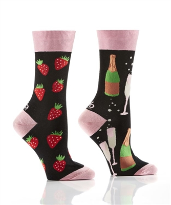 YoSox Socks Women's Crew Bubble & Berries