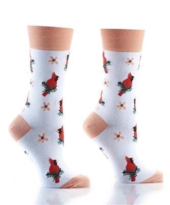 YoSox Socks Women's Crew Cardinals