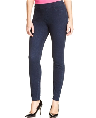 Hue Curvy Fit Denim Leggings Midnight Navy SM LG XL