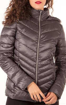 Point Zero Ultralight Quilted Packable Jacket Fog M LG