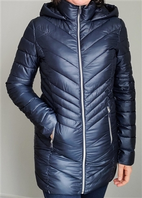 Point Zero Ultralight Quilted Packable Jacket Navy SM M LG XL