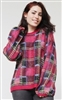 Fuschsia Black Yellow Blue Plaid Sweater