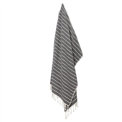 Turkish Towel Bamboo Stripe Black
