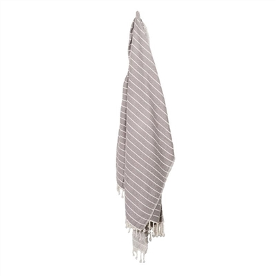 Turkish Towel Bamboo Stripe Slate