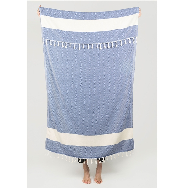 Turkish Towel Diamond Navy