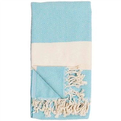 Turkish Towel Diamond Aqua