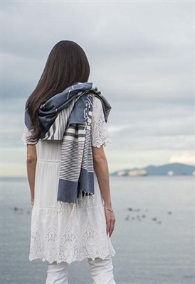 Turkish Towel Harem Denim