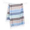 Turkish Towel Thick Stripe Water