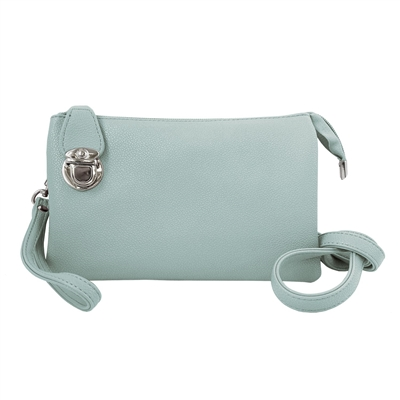 Convertible Clutch Crossbody Bag Aqua