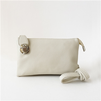Convertible Clutch Crossbody Bag Beige