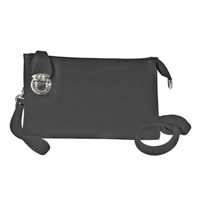 Convertible Clutch Crossbody Bag Black