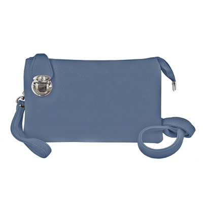 Convertible Clutch Crossbody Bag Blue