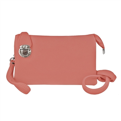 Convertible Clutch Crossbody Bag Coral