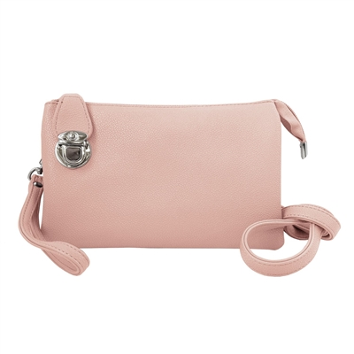 Convertible Clutch Crossbody Bag Pink