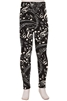 Brushed Soft Kids Leggings Music Notes Black and White - SM