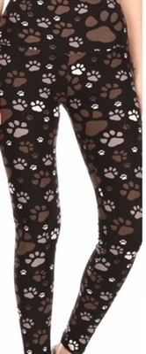 Brushed Soft Kids Leggings Muddy Paws - L/XL