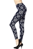Brushed Soft Nautical Wheel Leggings L/XL
