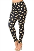 Creamy Soft Black Playful Kitty Cat Leggings L/XL
