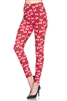 Brushed Soft Ho Ho Ho Red Leggings L/XL