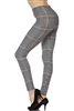 Brushed Soft Houndstooth Leggings L/XL